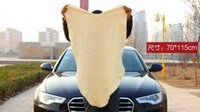 Wholesale Drying Cleaning Towel Natural Genuine Leather Chamois Shammy Sponge Cloth Sheepskin Absorbent Towel Car Washing
