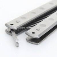 banner train - Stainless Steel Practice Training Butterfly Balisong Style Knife Comb Cool Sport sport wallet sport banner