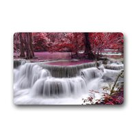 autumn doormat - Waterfall River Autumn Leaves Customized Bathroom Carpet Set Doormat Mat Indoor Outdoor Front Door Mats x18 x15 Inches