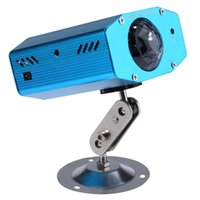Wholesale Hot W RGB LED Mini Water Ripples Light Waterproof Blue Club Disco Stage Lamp Laser Projector US EU Plug with Color Changing