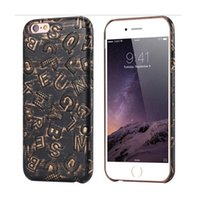 art leather phone covers - For Apple iphone s Plus D Art Print Letter PU Leather Phone Cover For Apple iphone Plus Punk Matte Back Bag