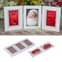 baby handprint footprint - Cute Baby Photo frame DIY handprint or footprint Soft Clay Safe Inkpad non toxic easy to use Free ship c for baby
