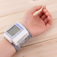 Wholesale CAHNGKUN CK B S High Quality Digital LCD Automatic Wrist Blood Pressure Monitor Heart Beat Rate Pulse Meter Measure Test Tester