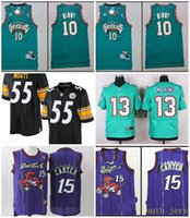 Wholesale A new arrival Elite Arthur Moats Vince Carter Mike Bibby Dan Marino jersey for men