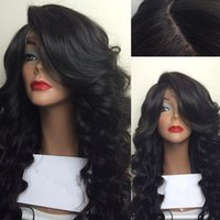 Wholesale Side part Body Wave Synthetic hair Lace Front wigs lace wig Wavy glueless full lace front short wigs for black women in stock