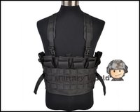 Wholesale Tactical Combat Vest Load Bearing Boar Chest Rig High Quality Outdoor Combat Training Tactical Vest Four Colors For Optional