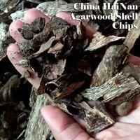 agarwood chip - 282gram nature aroma high quality China Hainan Aloeswood shell raw chips agarwood oud burn incense or make powder or tea jinkoh gaharu