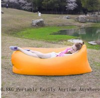 Wholesale New arrived hangout Inflatable sleeping bag outdoor beach fast inflatable sofa bed nylon material air sofa couch