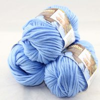 Wholesale Sale of BallsX50g Special Thick Worsted Cotton Knitting Yarn baby Blue