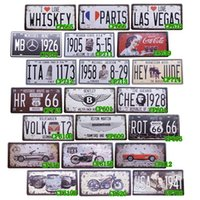 antique luxury cars - Famous Luxury Cars And Route Tin Signs Decor Home Pub Bar Retro Metal Art Poster