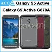 Wholesale Original Refurbished Samsung Galaxy S5 Active G870A inch Quad Core GB RAM GB ROM MP Camera G LTE Unlocked Android Mobile Cellphone