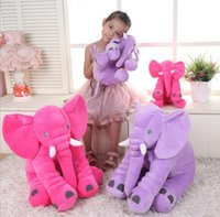 best lumbar pillow - 6 color sizes elephant pillow baby doll children sleep pillow birthday gift INS Lumbar Pillow Long Nose Elephant Doll Soft Plush best