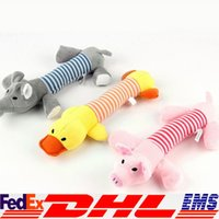 animal sounds pig - Pet Squeaker Toy Puppy Chew Squeaky Plush Sound Pig Elephant Duck For Dog Toys XL T11