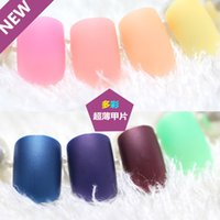 artificial nail types - 2016 New arrival matt color nail tips full cover type artificial nail tips ultra thin nails