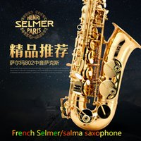 alto saxophone bags - The French Selmer E alto saxophone music electrophoresis gold professional instruments bag mail