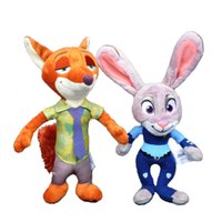 animal shop games - 30pcs cm Zootopia Plush Toy Pet Shop Cartoon Animal Rabbit Fox Stuffed Dolls Kawaii Zootopia Movie Nick Wilde Judy Hopps Plush Dolls Toys