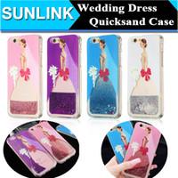 apple beauty case - 3D Quicksand Liquid Case For iPhone S Plus Bride Beauty Wedding Dress Girl Bling Glitter Dynamic Cover TPU Soft Bumper