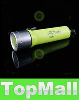 Wholesale LAI Flashlight For Diving Mode Lumen CREE Q5 LED underwater Torch With Yellow Black Red Blue