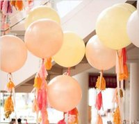 baby giants - 36 inch Large baby shower decor Balloon Big Balloons Solid Colors Birthday Wedding Party decoration Kids natural Latex Giant Fast shipping