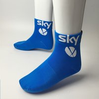 Wholesale Pairs team sky cycling Socks quick dry pro team sports socks With breathable Coolmax Material