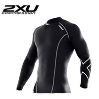 bamboo bicycle - 2XU Men Compression Tights T Shirt Running Bicycle Fitness T Shirt Men Long Sleeve Outdoor Moisture Wicking Quick drying C13