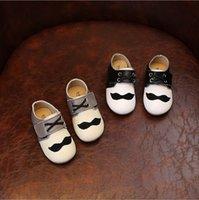 beard mustache styles - Fashion Style Mustache Genuine Leather Baby Shoes Kids Sneakers Cowhide Leather Children Shoes Footwear Cartoon Boys Girls Beard Shoes