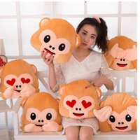 Wholesale And Retail Soft Monkey Cushion Made Of PP Cotton Pillow Cushion Sofa Cushion Home Decoration