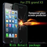 al por mayor vidrio x9-Para ZTE grand X3 z959 Protector de pantalla de vidrio templado Lámina x9 de la lámina de la explosión x5 grand X máximo más Z987 ZMAX 2 Z958