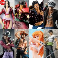 Wholesale One Piece Garage Kit POP MONKEY D LUFFY RORONOA ZORO Boa Hancock Dracula Mihawk Tony Tony Chopper Animation model