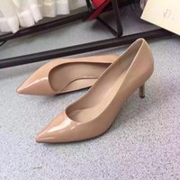 Wholesale The new pointed high heeled shoes paint single shoes with OL female fine with professional women s shoes