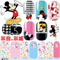 Wholesale Hot Sale Women Beauty Nail Art Nail Art Stickers QJ Mickey Minnie series of all posted green nail polish nail sticker decals