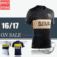 Wholesale thai quality Boca Juniors blue yellow black shirt CARLITOS ROMAN TEVEZ soccer football jersey customize Mix order