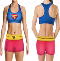Gilet rouge pour Avis-Camisoles Superman Camisoles Bleues Rouges Camisoles Running Tops Camisole Golden Superman