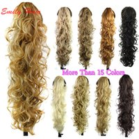 Wholesale quot g Claw Hair Tail Ponytail Hair Extension Wavy Curly Style Tress Curly Synthetic Hairpieces Chignon Tail Pieces