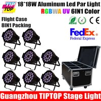 auto rentals - 8IN1 Flightcase Pack W RGBWA UV in1 Led Par Cans Wedding Light Equipment Rental Outdoor Led Wall Washer Light Thick Case