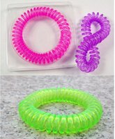 Wholesale 2016 Hot sale Mosquito Repellent Bracelet Stretchable Elastic Coil Spiral hand Wrist Band telephone Ring Chain Anti mosquito bracelet