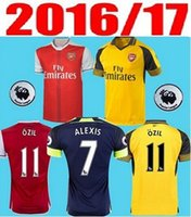arsenal patch - 2016 Arsenal Jerseys OZIL Training suit WILSHERE RAMSEY ALEXIS Soccer rugby football shirt Free patch Free ship