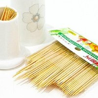 bamboo cocktail sticks - Sterilized CM Bamboo wood Toothpicks Cocktail Appetizer Stick
