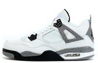 Wholesale Send Without Box retro Premium Black man sneaker White Cement man basketball shoes AIR size eur