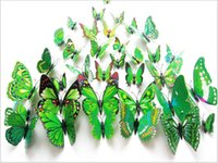 Wholesale 2016 small fresh green refrigerator simulation butterfly set simple modern floral decorations ornaments