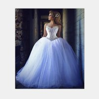 Wholesale 2016 Wedding Dresses with Rhinestones Vintage Ball Gown Wedding Dresses Beaded Lace Up Sweetheart Corset Luxury Bridal Gowns