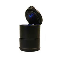 Wholesale Durable Portable Car Ashtray Car Interiors Frame Set Black Dolly Travel Cigarette Ash Holder LED Lamp Ashtray