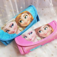 Wholesale 2016 Fashion And Cute Stationery Cartoon Pencil Case Frozen Pen Bags School Supplies For Kids Christmas Gift