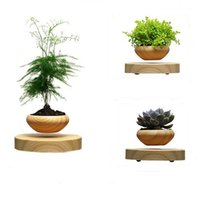 Wholesale 2016 Fashion Mini Desktop Floating Flower Pots Mini Wooden Desktop Flower Plants Pots in Home Office and Exhibition