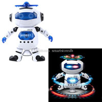 Wholesale Nice Gifts for Children Boys Electronic Walking Dancing Smart Space Robot Astronaut Kids Music Ligh A00111 CARD