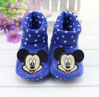 Unisex Spring / Autumn Cotton 2016 new style spring and autumn baby socks soft bottom slip Mickey Mouse shoes adorable baby toddler shoes shoes free shipping.