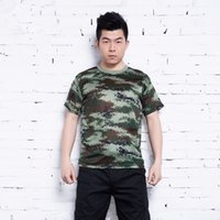 Wholesale Summer Outdoors Hunting Camouflage T shirt Men Breathable Army Tactical Combat T Shirt Military Dry Sport Camo Outdoor Camp Tees
