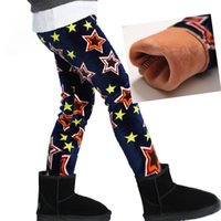 Cheap 2014 children's clothing female child autumn and winter legging plus velvet thickening child thermal long trousers baby boot cut