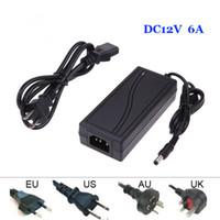 Wholesale 12V A AC DC Power Supply Charger Transformer Adapter for LED RGB Strip light US UK EU AU standard