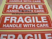 adhesive shipping label - FRAGILE HANDLE WITH CARE x25mm Self adhesive Shipping Label Sticker Item no SS16